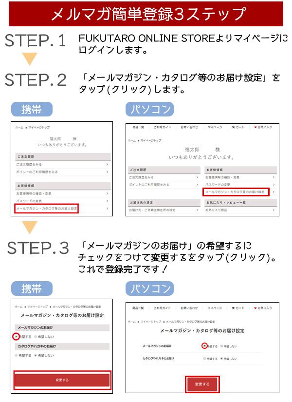 メルマガ簡単登録3ステップ